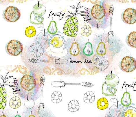 Fruit_amended_pattern fabric by sandieg on Spoonflower - custom fabric