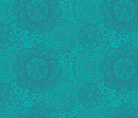 doilies teal fabric by katarina on Spoonflower - custom fabric