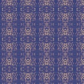 blue discharged linen