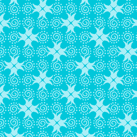Doodle Cross - Light Blue fabric by siya on Spoonflower - custom fabric