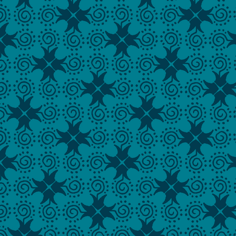 Doodle Cross - Dark Blue fabric by siya on Spoonflower - custom fabric