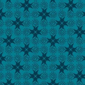 Doodle Cross - Dark Blue