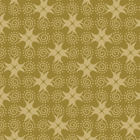 Doodle Cross - Gold fabric by siya on Spoonflower - custom fabric