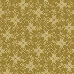 Doodle Cross - Gold