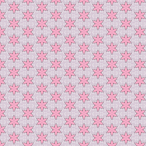 Parvati's Pink Starflower fabric by siya on Spoonflower - custom fabric