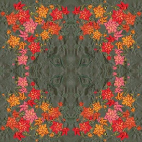 Exotic floral square