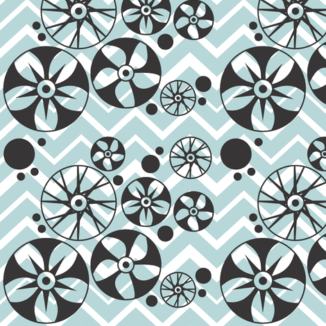 Tire Tracks and Wheels fabric by bojudesigns on Spoonflower - custom fabric