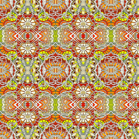 Atomic Daisy Time fabric by edsel2084 on Spoonflower - custom fabric