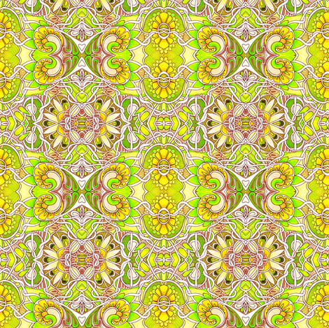 Lemon Lime Sunshine fabric by edsel2084 on Spoonflower - custom fabric