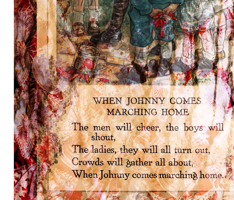 When Johnny Comes Marching Home fabric by feebeedee on Spoonflower - custom fabric