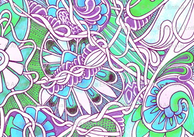 Tangled Up in a Pastel Garden Web