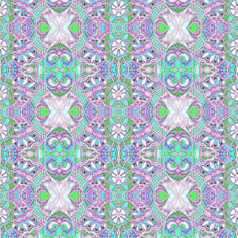 Tangled Up in a Pastel Garden Web fabric by edsel2084 on Spoonflower - custom fabric