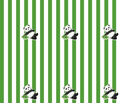 Panda Stripes fabric by kristinbell on Spoonflower - custom fabric