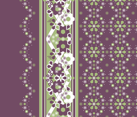 border_fabric_hex_with_medalions fabric by khowardquilts on Spoonflower - custom fabric