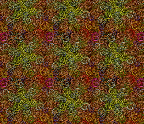 Sixties camoflage fabric by glimmericks on Spoonflower - custom fabric