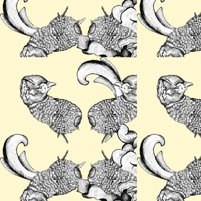 Pheasant Hunting Rococo Pattern