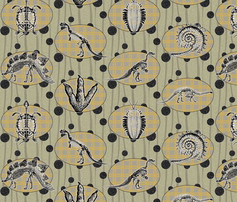 Extinction in Linen fabric by glanoramay on Spoonflower - custom fabric