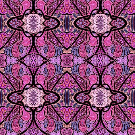 The Paisley Amoeba Valentine fabric by edsel2084 on Spoonflower - custom fabric