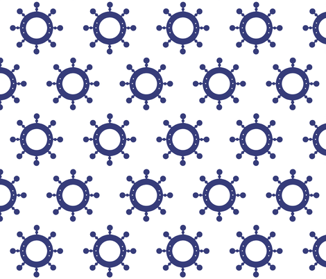 SHIP WHEELS fabric by bluevelvet on Spoonflower - custom fabric