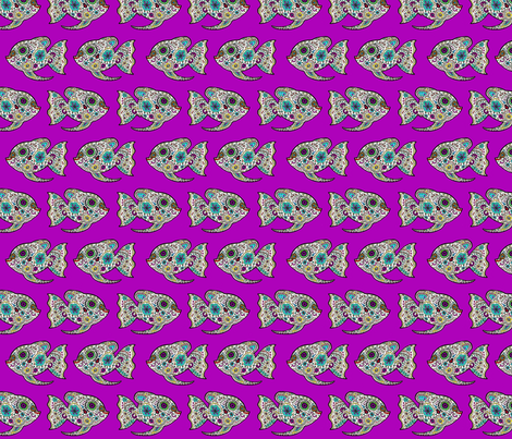 Go With the Flow Tiddlers fabric by lovekittypink on Spoonflower - custom fabric