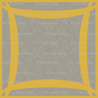 Extinction in Linen Woven Grid Large