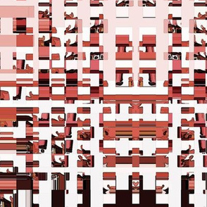 rectangles and squares in reds and pinks