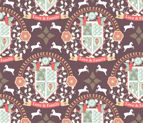 Love and Family fabric by demigoutte on Spoonflower - custom fabric