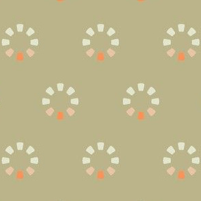 FAMILY TREES in Beige and Coral