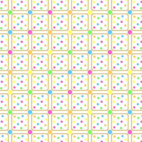 Cookie Squares fabric by modgeek on Spoonflower - custom fabric
