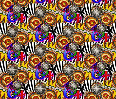 Counting on it fabric by whimzwhirled on Spoonflower - custom fabric