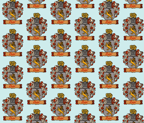 A Rossi Family Crest fabric by thatrossiart on Spoonflower - custom fabric