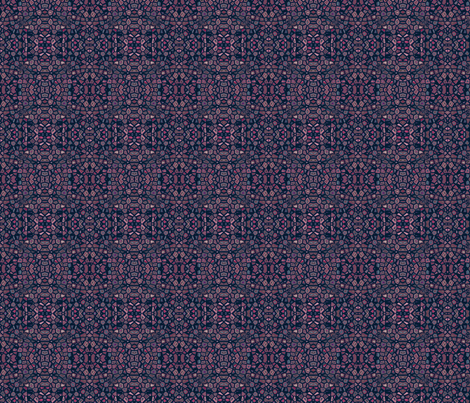 Navy and Red Mosaic © Gingezel™ 2012 fabric by gingezel on Spoonflower - custom fabric