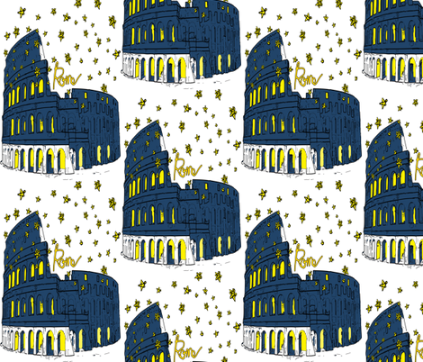 Rome Italy fabric by cutiecat on Spoonflower - custom fabric