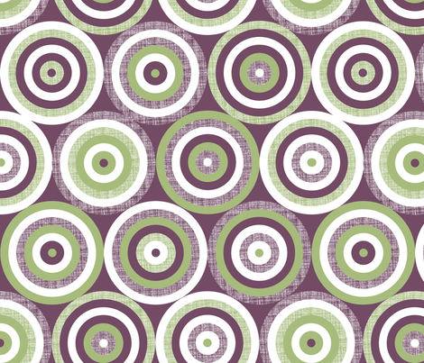 Blackcurrant Bulls Eye fabric by spellstone on Spoonflower - custom fabric