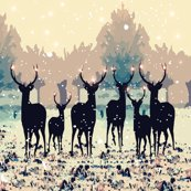 Rdeer_in_the_snowy_forest_spoonflower_shop_thumb