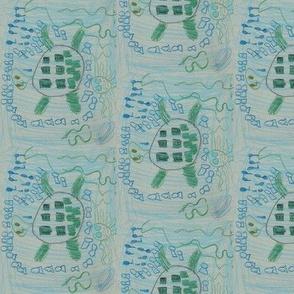 Turtle in Ocean by_Aurora_
