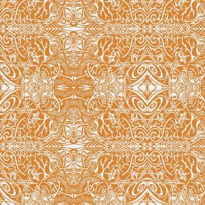 White & Orange Doozie-ch