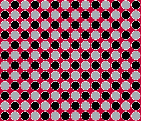 circles scarlet fabric by olioh on Spoonflower - custom fabric
