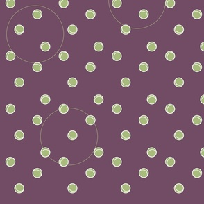 Polka Purple with Green Detail