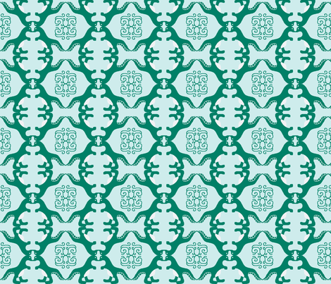 Delicate Dinosaur fabric by jellyfishearth on Spoonflower - custom fabric