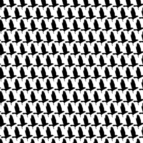 As the crow flies houndstooth small fabric by creative_merritt on Spoonflower - custom fabric