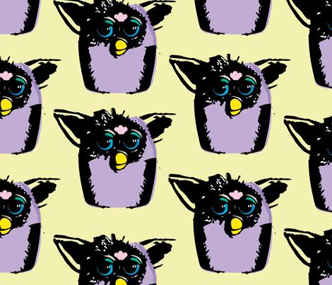 Furby Friends fabric by alysnpunderland on Spoonflower - custom fabric