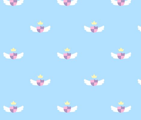 Blue Cute Crest fabric by nemethwild on Spoonflower - custom fabric