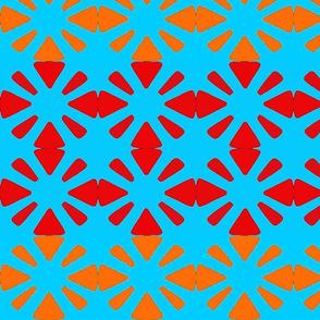 daisy- twin  orange sky