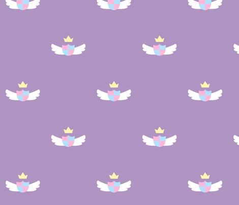 Purple Cute Crest fabric by nemethwild on Spoonflower - custom fabric