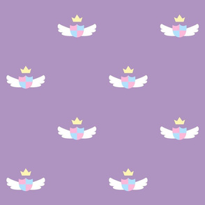 Purple Cute Crest