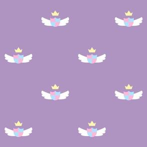 Purple Cute Crest