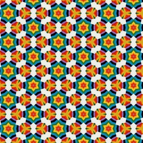 Rainbow Stars fabric by theunicornandthewasp on Spoonflower - custom fabric