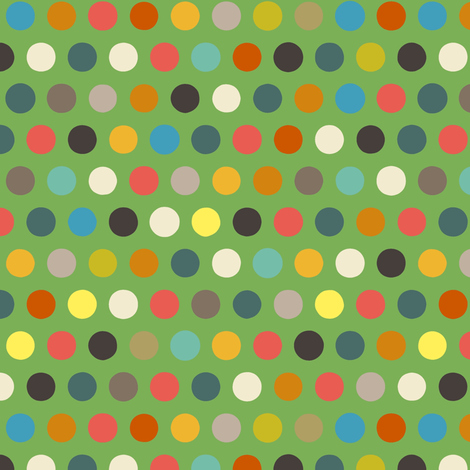 green boy number spot fabric by scrummy on Spoonflower - custom fabric