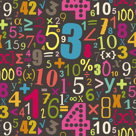 girl chocca numbers fabric by scrummy on Spoonflower - custom fabric